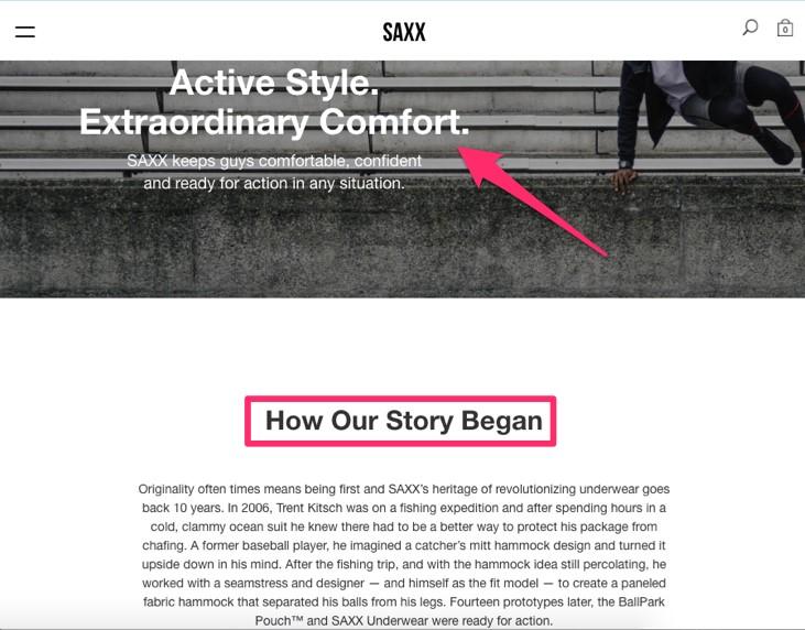 عنوان جذاب درباره ما SAXX